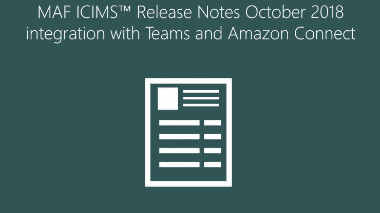 MAF ICIMS Unified Communications Reporting V3 Released