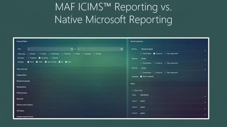MAF ICIMS™ Reporting vs. Native Microsoft Reporting