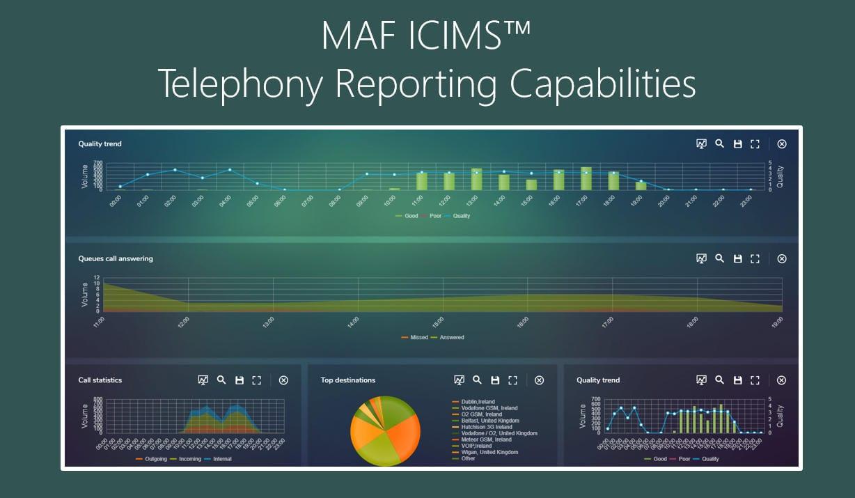 MAF ICIMS™ Telephony Reporting Capabilities