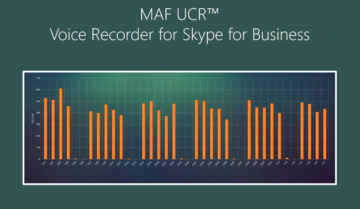 MAF UCR™ Voice Recorder for Skype for Business