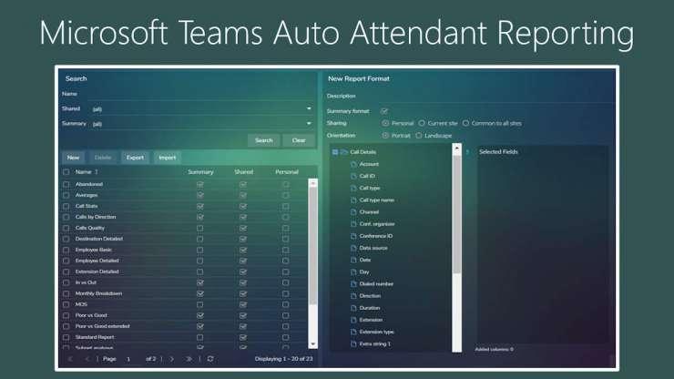 Microsoft Teams Auto Attendant Reporting